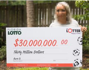 ออร่า D. ผู้ถูกรางวัลแจ็กพอต Lotto ฟลอริดาจำนวน 30 ล้านดอลลาร์สหรัฐ