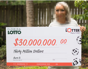 パナマ人女性がフロリダのロトに参加して$3000万に当選