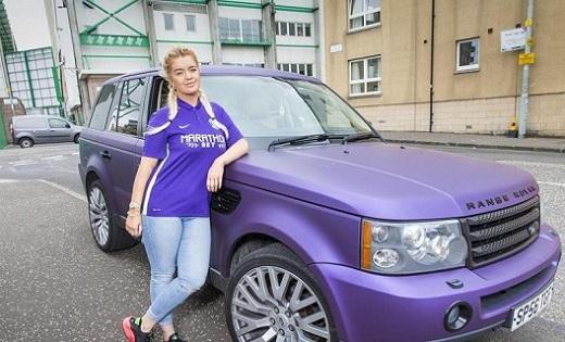 El Range Rover lila de Jane Park