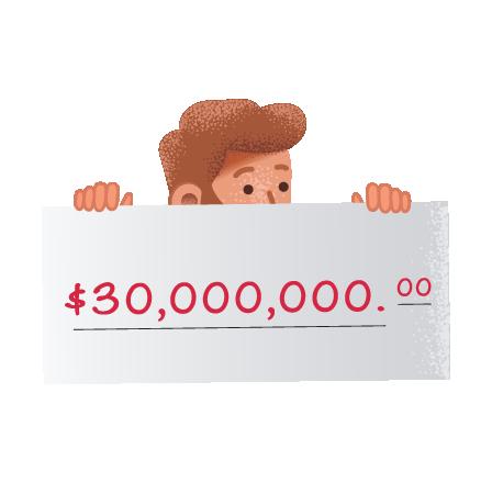 USA Mega Millions online winners on theLotter