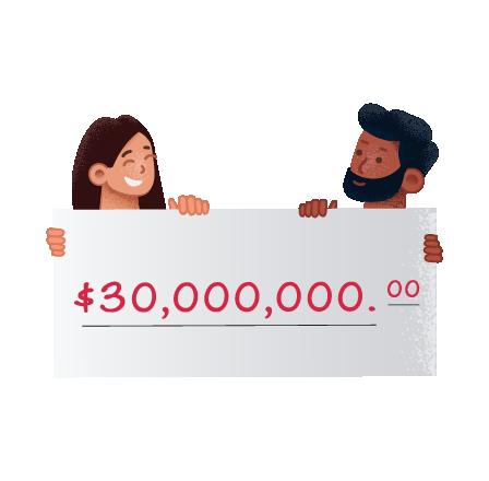 Les second prix du loto du Mega Millions