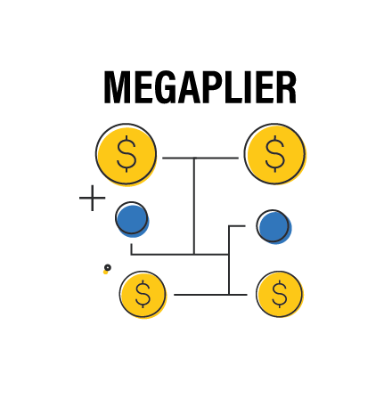 Increase your winnings with the megaplier