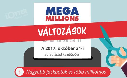 A Mega Millions módosításai rekord jackpotokat fognak eredményezni