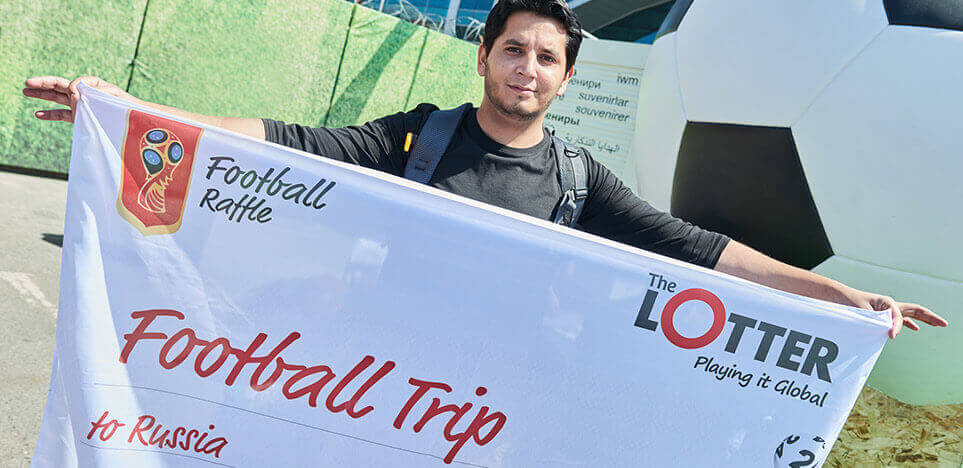 Our Player Wins a Football Trip to Russia!