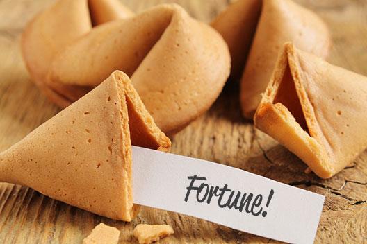 Números de lotería ganadores sacados de las galletas de la fortuna