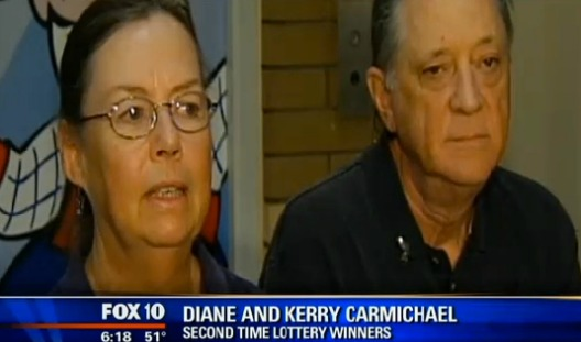 Carmichaels win the lottery twice, marking their lottery luck