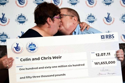 what colin and chris weir did with their lottery money