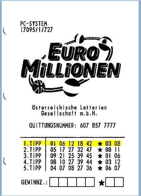 赢了奥地利欧洲百万EuroMillions