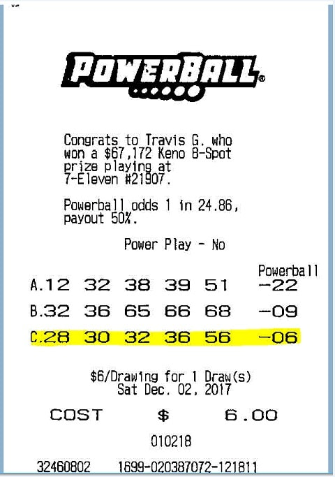 Ticket Powerball