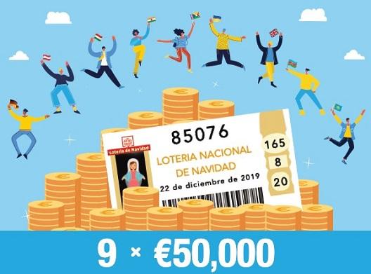 Dziewięciu z naszych graczy wygrało po 50 000 € w Lotería de Navidad!