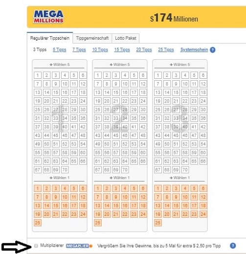 how to play mega millions megaplier