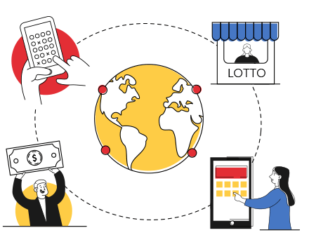 Lottery ticket messenger service