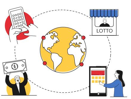 Online-Lottoschein-Kurierdienst