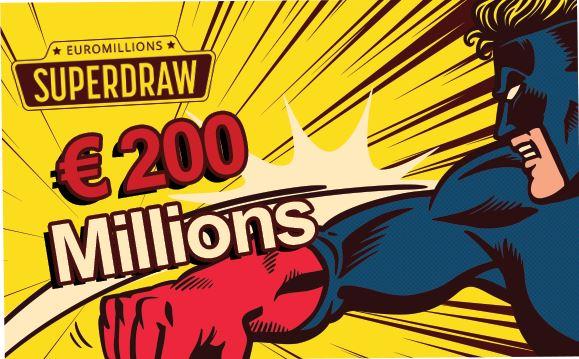 Plafond historique de l'EuroMillions de 200 millions d'euros !