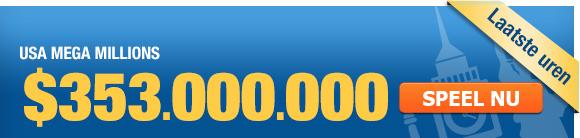 Mega Millions biedt megajackpot van $353 miljoen in trekking van vrijdag 14 maart