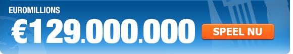 EuroMillions biedt superjackpot op vrijdag 14 maart