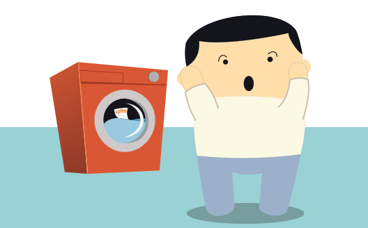 Uusiseelantilainen laittaa lottokupongin pesukoneeseen