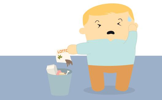 Gouden loterij lot beland in stinkende vuilnisbak