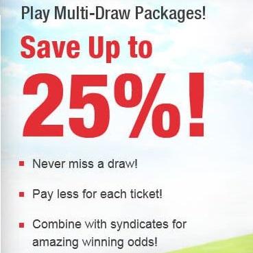 multi draw lottery ticket