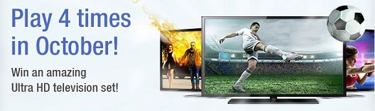 online lottery sweepstakes for an Ultra HD television