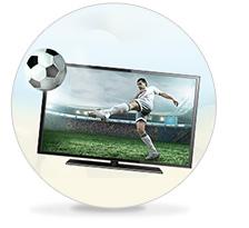 Footballer on television