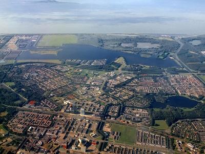 Almere Netherlands birdseye view